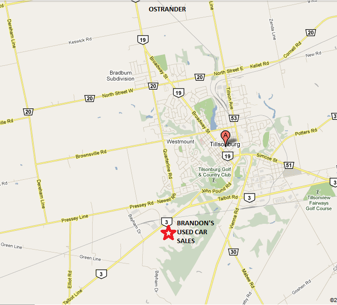 Brandon's Used Car Sales, 1501 Highway #3, Tillsonburg, Ontario, N4G 4G8, Canada